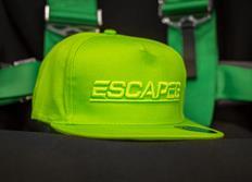 Kšiltovka Escape6 zelená s plastickým 3D logem Escape6