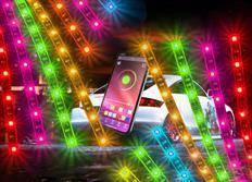 Moderní Bluetooth 18dílná sada flexibilních LED neonů Multicolor - dálkově ovládaná aplikací z telefonu