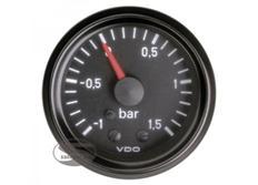 VDO přídavný ukazatel tlaku turba série Cocpit Vision -1 až 1,5bar