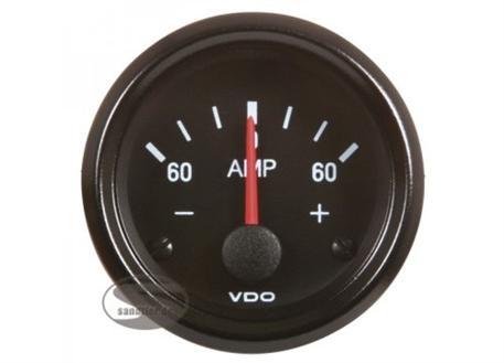 VDO přídavný ukazatel ampermetr série Cocpit Vision -60 až +60Amp