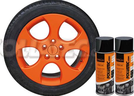 Sada 2ks spreje FOLIATEC - fólie ve spreji (dip) oranžová matná celkem 800ml