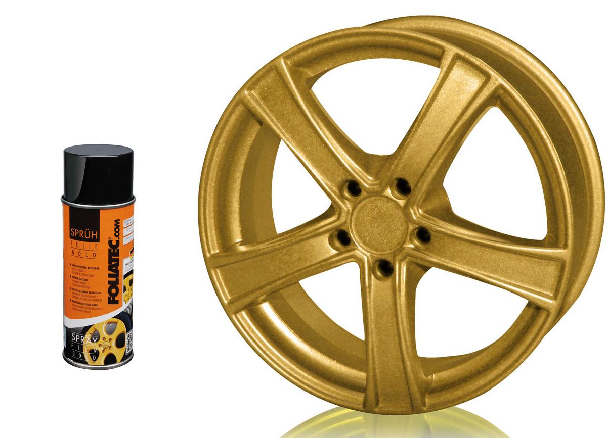 1 ks spreje FOLIATEC - fólie ve spreji (dip) zlatá metalická 400ml