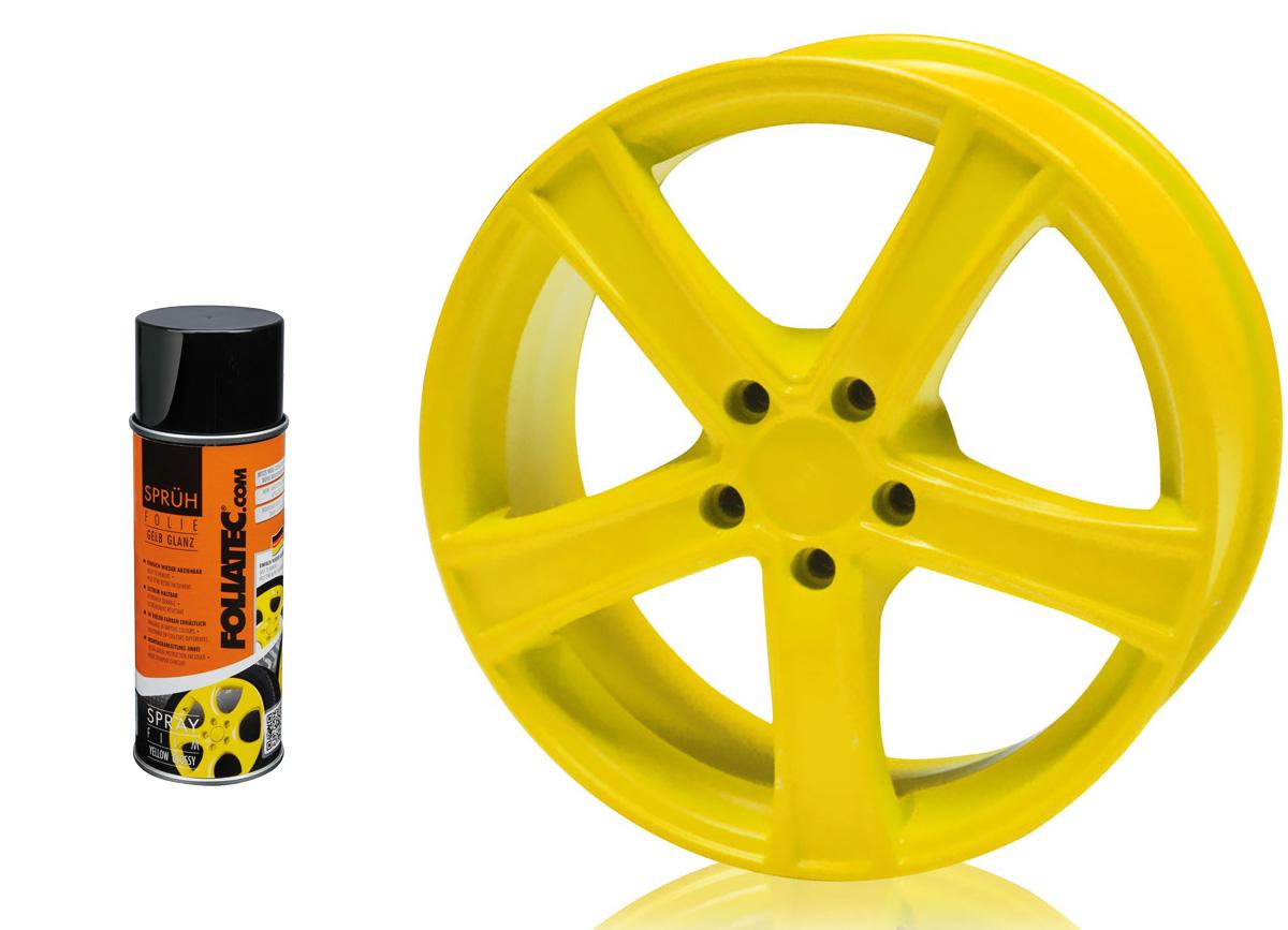 1 ks spreje FOLIATEC - fólie ve spreji (dip) žlutá lesklá 400ml