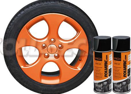 Sada 2ks spreje FOLIATEC - fólie ve spreji (dip) oranžová lesklá celkem 800ml