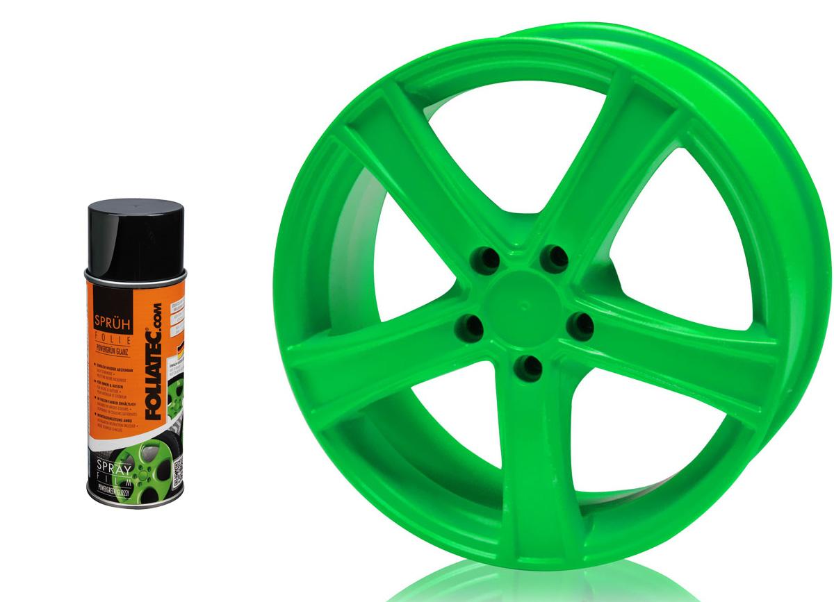 1 ks spreje FOLIATEC - fólie ve spreji (dip) zelená lesklá 400ml