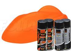 Sada sprejů FOLIATEC fólie ve spreji (dip) neonová oranžová celkem 800ml