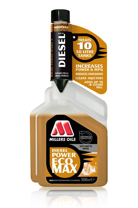 Aditivace nafty Millers Oils Diesel Power ECOMAX 500 ml
