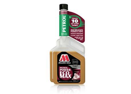 Aditivace benzínu Millers Oils Petrol Power ECOMAX 500 ml