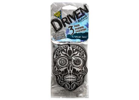 Sada 3ks osvěžovačů vzduchu HandStands scented paper, vůně Driven - Titanium Rain
