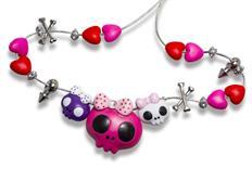 Osvěžovač vzduchu HandStands Hearts and Skulls Charm, vůně Driven - Driven Girl