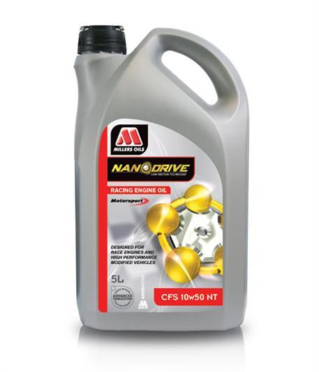 Závodní plně syntetický motorový olej Millers Oils NANODRIVE - CFS 10W-50 NT 5l