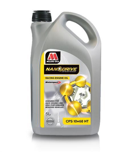 Závodní plně syntetický motorový olej Millers Oils NANODRIVE - CFS 10W-60 NT 5l