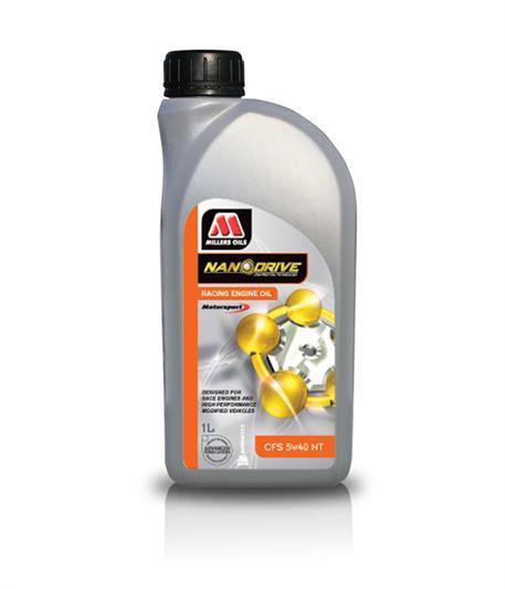 Závodní plně syntetický motorový olej Millers Oils NANODRIVE - CFS 5W-40 NT 1l