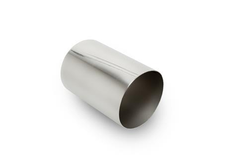 Koncovka výfuku kulatá 89 mm bez pertlu, leštěná, pro navaření