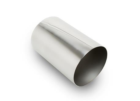 Koncovka výfuku kulatá 102 mm bez pertlu, leštěná, pro navaření