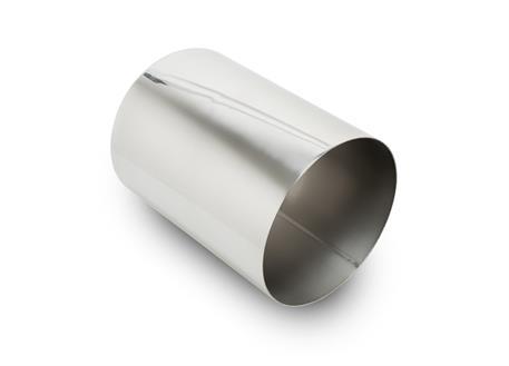 Koncovka výfuku kulatá 114 mm bez pertlu, leštěná, pro navaření