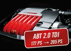 ABT Sportsline zvýšení výkonu pro Audi A6 (4G0) 2,0 TDI z 130 kW (177 k) / 380 Nm na 151 kW (205 k) / 420 Nm