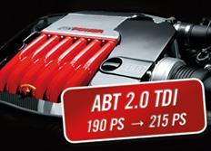 ABT Sportsline zvýšení výkonu pro Audi A6 (4G0) 2,0 TDI z 140 kW (190 k) / 400 Nm na 158 kW (215 k) / 440 Nm