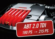 ABT Sportsline zvýšení výkonu pro Audi A6 (4G05) 2,0 TDI z 140 kW (190 k) / 400 Nm na 158 kW (215 k) / 440 Nm