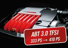 ABT Sportsline zvýšení výkonu pro Audi A6 (4G05) 3,0 TFSI z 245 kW (333 k) / 440 Nm na 301 kW (410 k) / 520 Nm