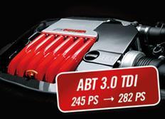 ABT Sportsline zvýšení výkonu pro Audi A7 Sportback (4G8) 11/10-, 3,0 TDI z 180 kW (245 k) / 580 Nm na 207 kW (282 k) / 630 Nm