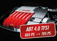 ABT Sportsline zvýšení výkonu pro Audi RS6 Performance (4G05) 12/15-, 4,0 TFSI z 445 kW (650 k) / 700 Nm na 519 kW (705 k) / 880 Nm