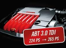 ABT Sportsline zvýšení výkonu pro VW Amarok (2H07) 09/16-, 3,0 TDI z 165 kW (224 k) / 550 Nm na 195 kW (265 k) / 590 Nm