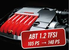 ABT Sportsline zvýšení výkonu pro VW Touran (1T1) 08/10-, 1,2 TSI z 77 kW (105 k) / 175 Nm na 103 kW (140 k) / 220 Nm