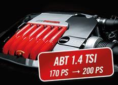 ABT Sportsline zvýšení výkonu pro VW Touran (1T1) 08/10-, 1,4 TSI z 125 kW (170 k) / 240 Nm na 147 kW (200 k) / 280 Nm