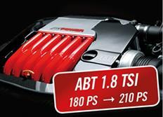 ABT Sportsline zvýšení výkonu pro VW Touran (1T06) 09/15-, 1,8 TSI z 132 kW (180 k) / 250 Nm na 154 kW (210 k) / 310 Nm