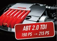ABT Sportsline zvýšení výkonu pro VW Touran (1T06) 09/15-, 2,0 TDI z 140 kW (190 k) / 400 Nm na 158 kW (215 k) / 440 Nm