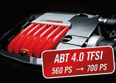 ABT Sportsline zvýšení výkonu včetně výfukového systému pro Audi RS6 (4G0) 06/13-, 4,0 TFSI z 412 kW (560 k) / 700 Nm na 515 kW (700 k) / 880 Nm