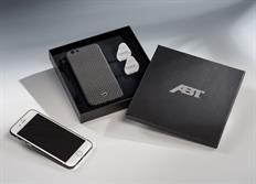 ABT karbonový kryt na iPhone 6/6s se stříbrným logem ABT 10 mm