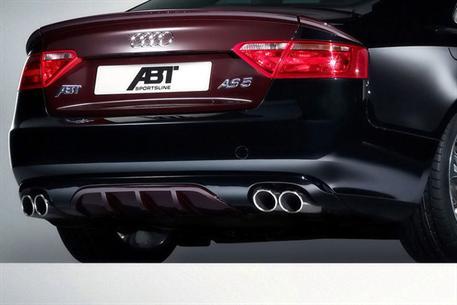 ABT set zadního spoileru a koncového tlumiče výfuku pro Audi A5 8T