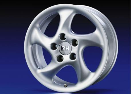 Alu kolo RH AH Turbo, 11x18 5x130 ET52, stříbrné