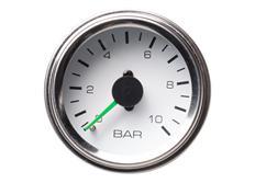 Autogauge přídavný ukazatel tlaku vzduchu dvouručičkový bílý 52mm