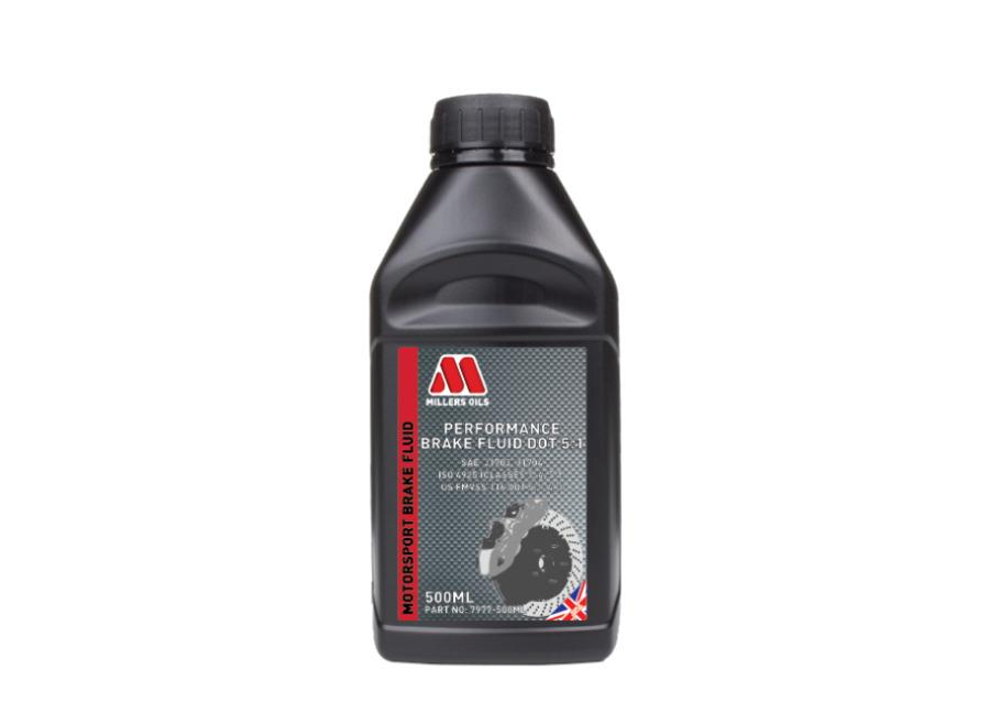 Brzdová kapalina Millers Oils Performance Brake Fluid DOT 5.1 500ml