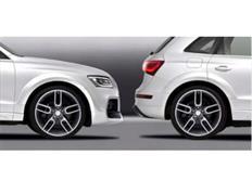 CARACTERE 10ti-dílná sada pro rozšíření blatníků pro použití s CARACTERE předním nárazníkem pro Audi Q5 (8R2) Facelift r.v. od 2013
