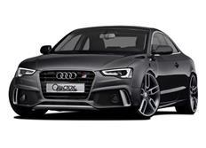 CARACTERE kompletní přední nárazník vč. mlhových světlometů a znaku RS5 pro Audi A5 (8T3) Coupé / Cabrio / Sportback Facelift s APS, r.v. od 2013