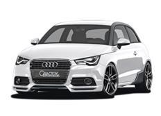 CARACTERE spoiler pod originální přední nárazník pro Audi A1 / A1 Sportback (8X)