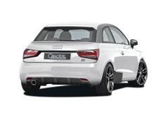 CARACTERE spoiler pod originální zadní nárazník pro Audi A1 / A1 Sportback (8X)