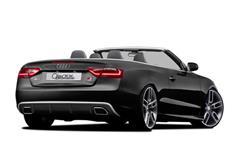 CARACTERE spoiler pod originální zadní nárazník pro Audi A5 (8T3) Cabrio Facelift r.v. od 2013 s exteriérovým paketem S-Line