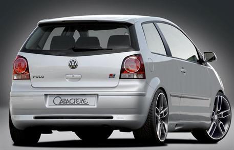 CARACTERE spoiler pod originální zadní nárazník pro VW Polo 9N2