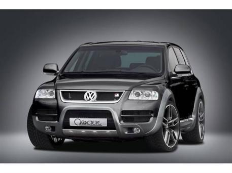 CARACTERE spoiler pod originální přední nárazník pro vozy s mlhovými světlomety a park. Asistentem pro VW Touareg 7L