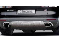 CARACTERE spoiler pod originální zadní nárazník pro vozy s tažným zařízením a park. Asistentem pro VW Touareg 7P