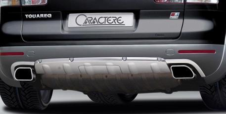 CARACTERE spoiler pod originální zadní nárazník pro vozy s park. asistentem a bez tažného zařízení  pro VW Touareg 7P