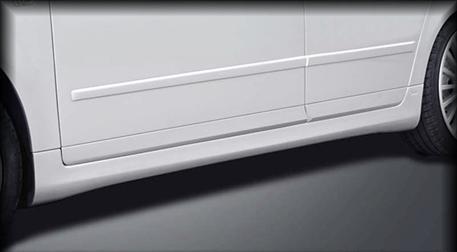 CARACTERE sada nástavců bočních prahů pro Audi A4 8E B7 Sedan
