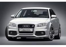CARACTERE spoiler pod originální přední nárazník pro vozy s mlhovými světly pro Audi A4 8E B7 Sedan / Avant / Cabrio