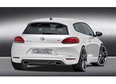 CARACTERE spoiler pod originální zadní nárazník s jedním výřezem pro koncovku výfuku pro VW Scirocco