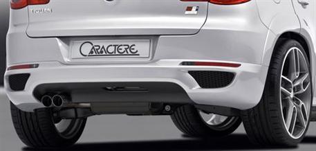 CARACTERE spoiler pod originální zadní nárazník pro vozy bez PDC a s tažným zařízením pro VW Tiguan